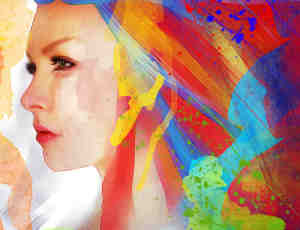 10种真实的水彩、油墨涂抹效果photoshop笔刷素材