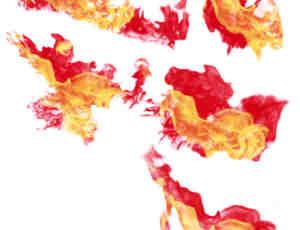 5种火焰、火光效果photoshop笔刷素材