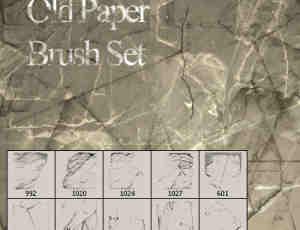 老旧、陈旧的纸质背景纹理photoshop笔刷