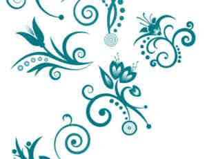 6种小清新印花图案、花纹装饰photoshop笔刷