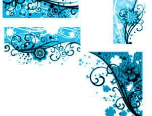 时尚花纹边框背景装饰photoshop笔刷素材