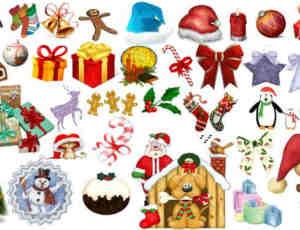 180个圣诞节照片装饰素材-美图秀秀素材
