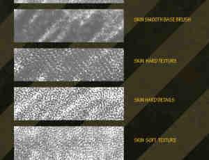 6种斑纹、斑点皮肤纹理photoshop笔刷素材
