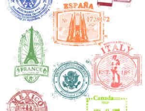 世界各地邮戳印迹photoshop笔刷