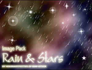 流星雨、星星效果photoshop背景笔刷
