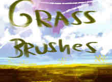 CG绘画草地风格photoshop笔刷下载