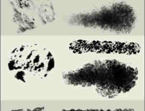 3种陈旧、很脏的污迹墙面纹理photoshop笔刷素材