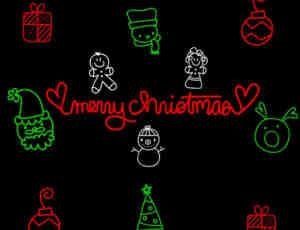 可爱卡通圣诞节图案photoshop笔刷素材下载