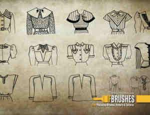 女式服装衣服素材PS笔刷下载