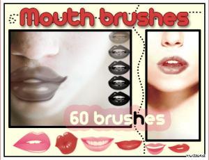 嘴巴、嘴唇photoshop笔刷素材