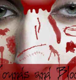 恐怖流血伤口、伤痕效果photoshop笔刷素材-人物笔刷 第 15 页