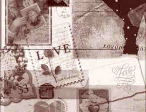 爱情邮票、信封素材PS笔刷下载