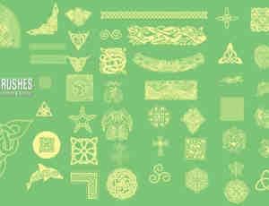 古典民族特色花纹图案PS笔刷素材