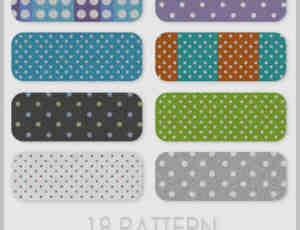 18种小圆点背景纹理PS笔刷素材