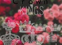 漂亮的矢量皇冠、王冠图案photoshop笔刷下载