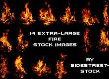 14款真实高清火焰、火苗燃烧效果photoshop笔刷素材