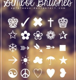 皇冠、小花、红心等可爱元素符号PS笔刷素材-符号笔刷 第 8 页高清图片