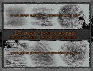 岩石、石头纹理photoshop笔刷素材下载