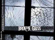 玻璃碎裂、玻璃破裂效果photoshop笔刷素材