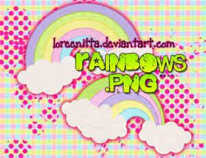 高清可爱的卡通彩虹美图秀秀、可牛影像素材