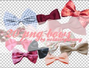 24种不同样式的漂亮蝴蝶结装饰美图秀秀素材