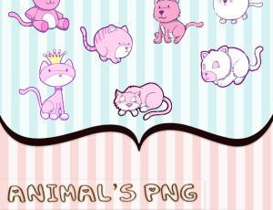 可爱的卡通笨猫咪美图秀秀、可牛影像素材下载