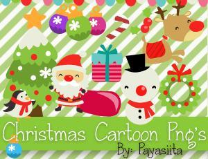 14个可爱的卡通圣诞节装扮美图秀秀、可牛影像素材