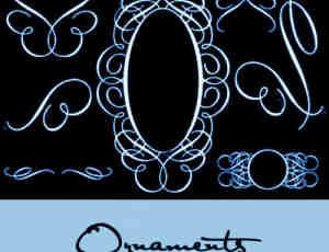 欧式贵族花纹艺术PS笔刷 #.12