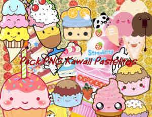 卡哇伊的卡通蛋糕、甜品美图秀秀素材