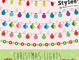 圣诞节日彩灯装饰美图秀秀素材下载
