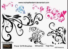 绝美的植物艺术花纹photoshop笔刷素材下载