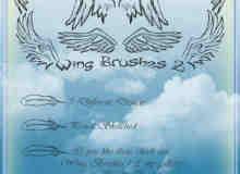 手绘涂鸦的翅膀photoshop笔刷素材