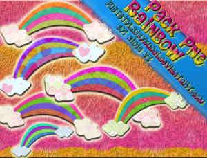 漂亮的彩虹头饰、可爱彩虹照片点缀素材-美图秀秀素材