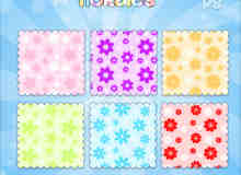 漂亮的太阳花、小红花、花朵图案Photoshop填充图案文件底纹素材 .pat