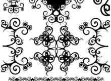 古典漩涡式花纹图案photoshop笔刷素材
