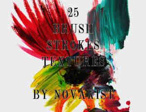 25种真实的水彩油漆涂痕划痕photoshop笔刷素材