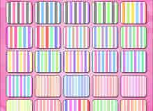 七彩颜色条纹、竖纹、横纹Photoshop填充图案文件底纹素材 .pat