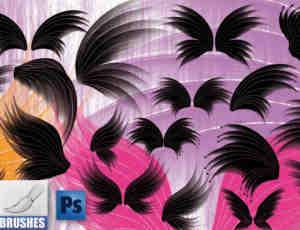 梦幻幻影天使翅膀、精灵翅膀photoshop笔刷素材