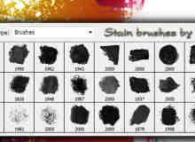 27种油漆刷子涂抹效果photoshop油漆笔刷