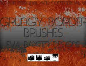 锈迹划痕、铁锈痕迹、划痕纹理photoshop笔刷素材
