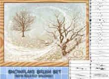 漂亮的雪一样的花纹图案、花海效果photoshop笔刷素材