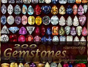 200个真实宝石、钻石png图片美图秀秀素材下载