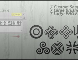 漂亮的简单手绘花纹符号图案photoshop笔刷素材