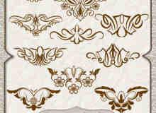 对称式贵族花纹图案photoshop笔刷素材