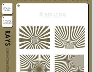 四种不同效果的放射状展示背景photoshop笔刷