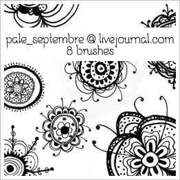 漂亮的手绘花纹图案小清新风格PS笔刷