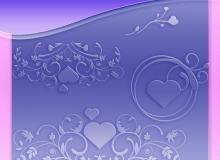 漂亮的爱情艺术花纹图案photoshop笔刷素材