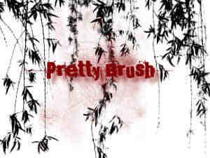 漂亮的柳树、柳叶、垂柳photoshop笔刷素材-植物笔刷 第 16 页