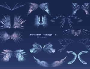 梦幻分形翅膀艺术photoshop笔刷素材下载 #.1