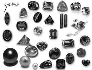 真实的宝石、钻石、珍珠、猫眼石、鸡心石、珠宝首饰photoshop笔刷素材